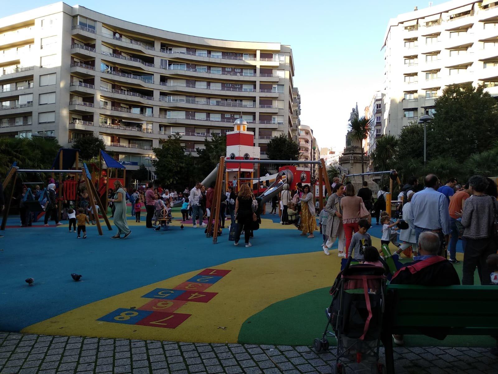 A Praza da Independencia en Vigo, un espazo gañado para a convivencia